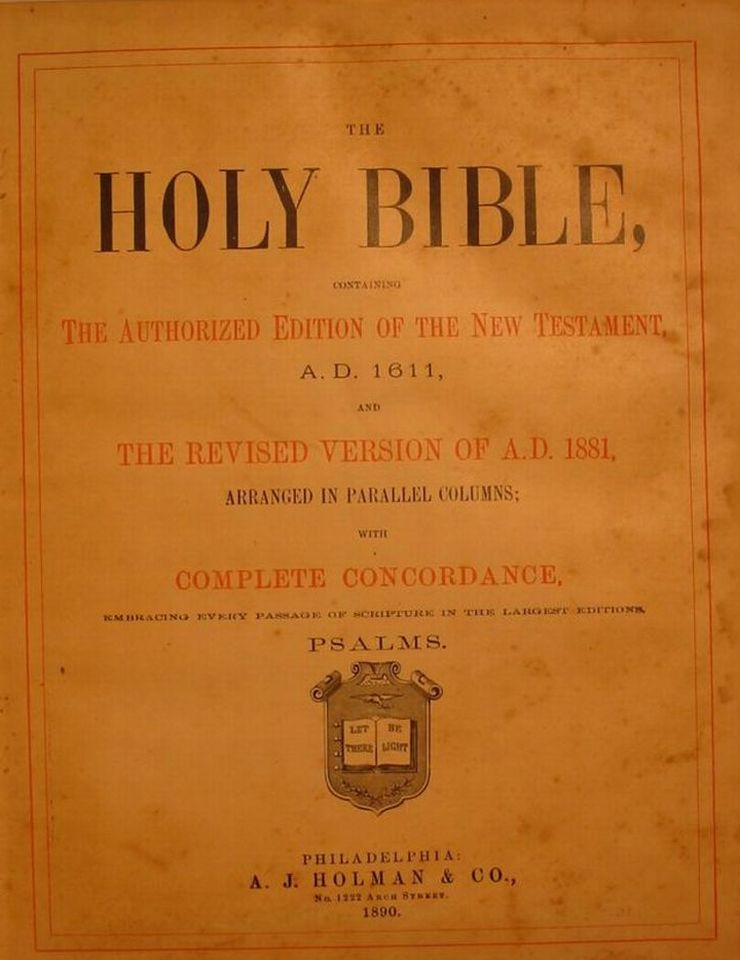 Batte Family Bible - 1890 Title Page